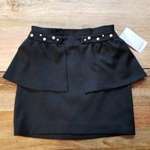 🆕️ Zara Pearl Mini Peplum Skirt